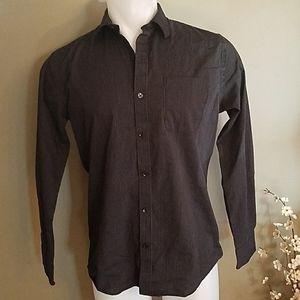 Van Heusen Traveler black pinstripe shirt